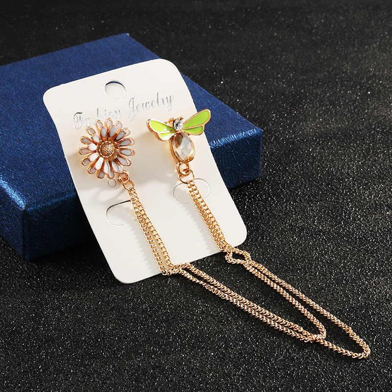 Simple Sun ดอกไม้แมลง Bee GOLD CHAIN เข็มกลัดเสื้อหัวเข็มขัด Badge Spur ม้าเข็มผู้ชายผู้หญิงเครื่องประดับคริสต์มาส