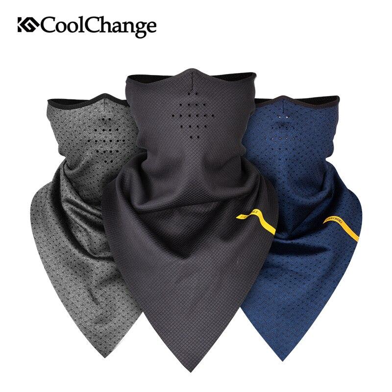 CoolChange велосипедная маска зимняя теплая маска для лица эластичная велосипедная треугольная маска полярная флисовая дышащая защита для ушей...