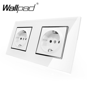 Image 2 - Wallpad enchufe doble de 16A con garras, enchufe de pared europeo estándar europeo de 156x86mm