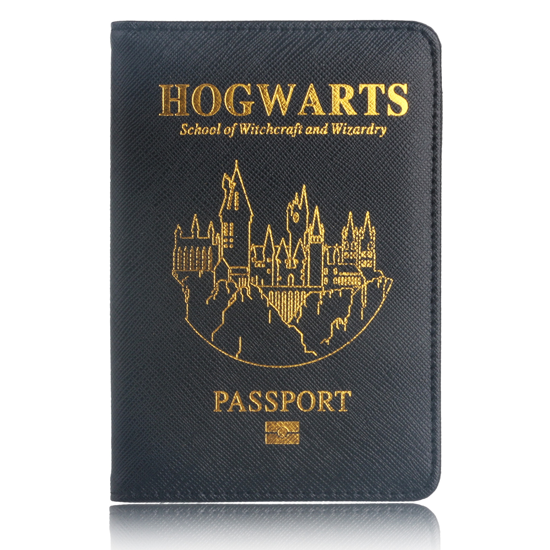 Hogwarts Gryffindor Ravenclaw Hermione Slytherin Hufflepuff Passport Cover Protective Multi Card Holder Travel Passport Holder