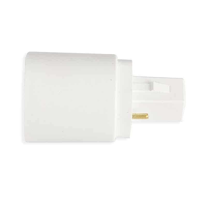 G24 a E27 Base de enchufe LED halógeno CFL bombilla adaptador de lámpara convertidor soporte tamaño pequeño y fácil iluminación de instalación racor