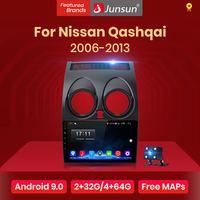 Junsun-Radio estéreo con GPS para coche, Radio con reproductor, 2 GB + 32 GB, Android 10, Bluetooth, navegador, para Nissan Qashqai J10 2009-2016