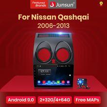 Junsun 2G+32G Android 10 For Nissan Qashqai J10 2006-2009 2011-2013 Auto 2 din Car Radio Stereo Player Bluetooth GPS Navigation