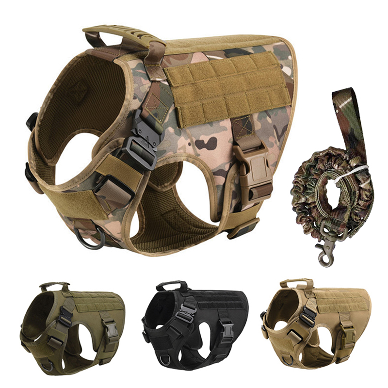 No Pull Harness For Large Dogs Military Tactical Dog Harness Vest German Shepherd Doberman Labrador Service Dog Training Product