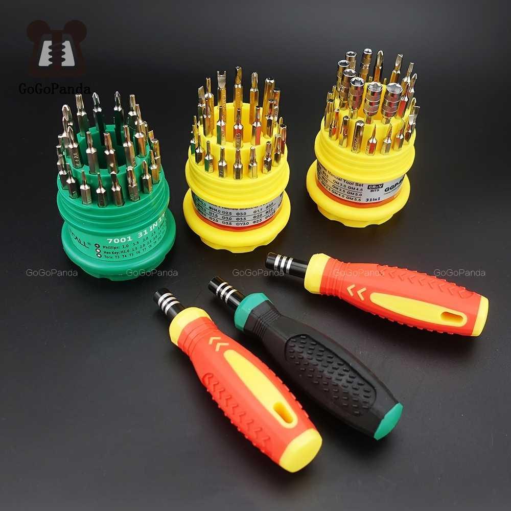 Precisie Handvat Schroevendraaier Set Magnetische Mobiele Telefoon Reparatie Kit Tools 31 In 1 (T4 Torx)