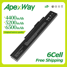 Apexway 6 cell 10.8v 4400mAh Laptop Battery For A32-A15 A41-A15 A42-A15 A42-H36 A6400 for MEDION Akoya E6201 P6631 P7818