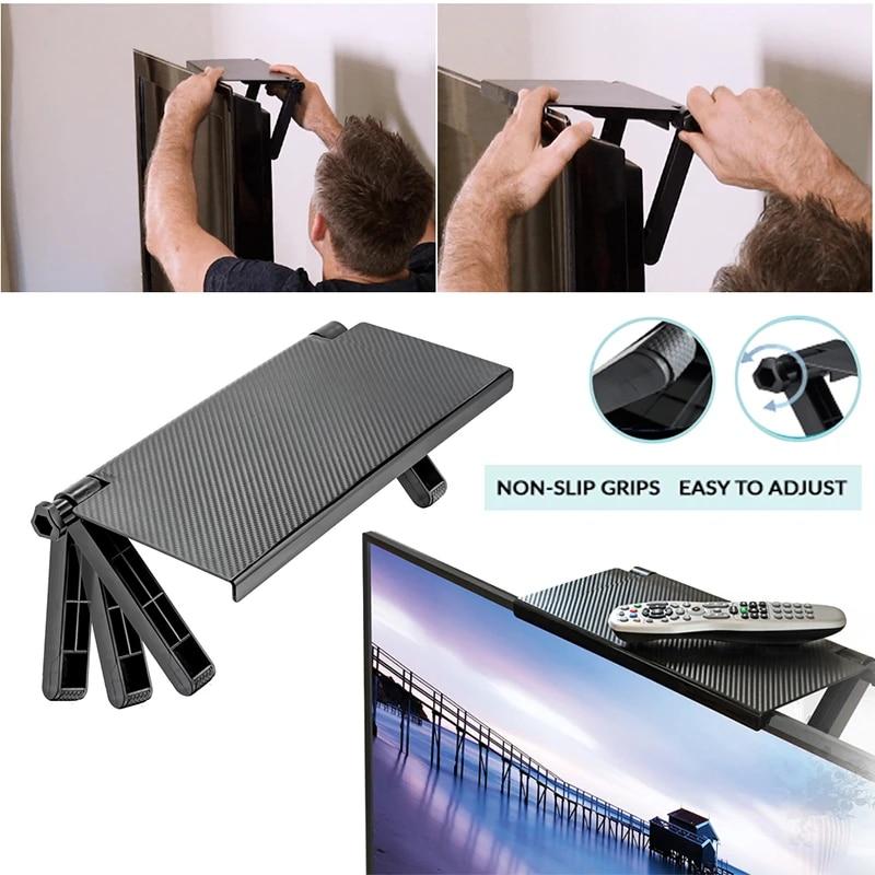 Screen Top Shelf TV Screen Storage Bracket Stand Monitor Computer Rack Display