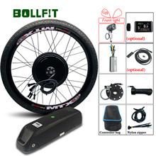 48V 1000W 1500W Rear Hub Motor 26 27.5 28 700C 29 Inch MTX Wheel KT System Electric Bicycle Conversion Kit(China)