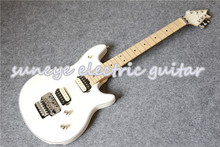 New Arrival Glossy White Wolfgang EVH Style Electric Guitar Left Handed Electrica Guitarra Custom Available free shipping new arrival custom shop bull eyes black white electric guitar