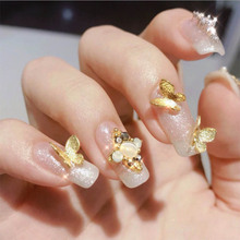 3d Metal Butterfly Nail Decorations Fashion Salon Art Design Holographic Butterflies Accessories Decoration For Nails