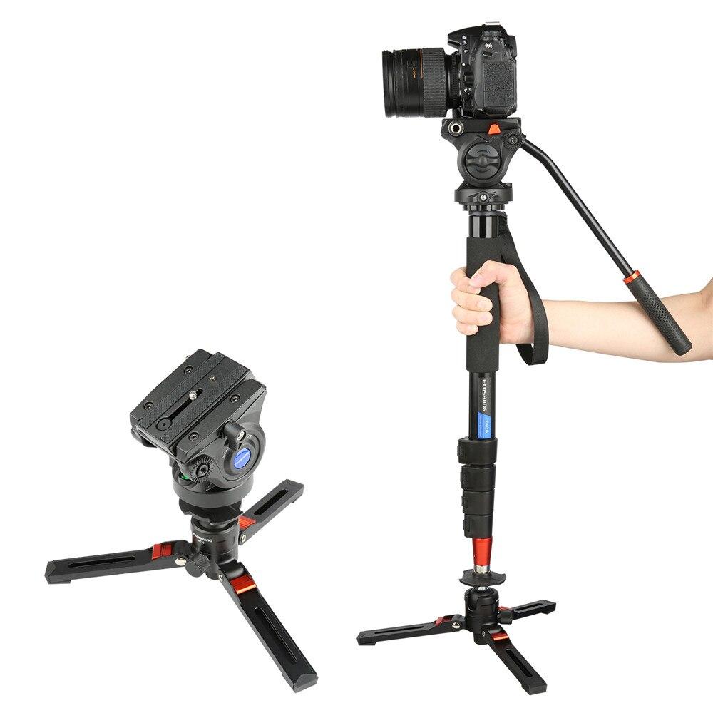 FANSHANG FA 18 73 гидравлическая головка штативы флип замок монопод для видео алюминиевый Профессиональный штатив подставка для видеокамера каме...