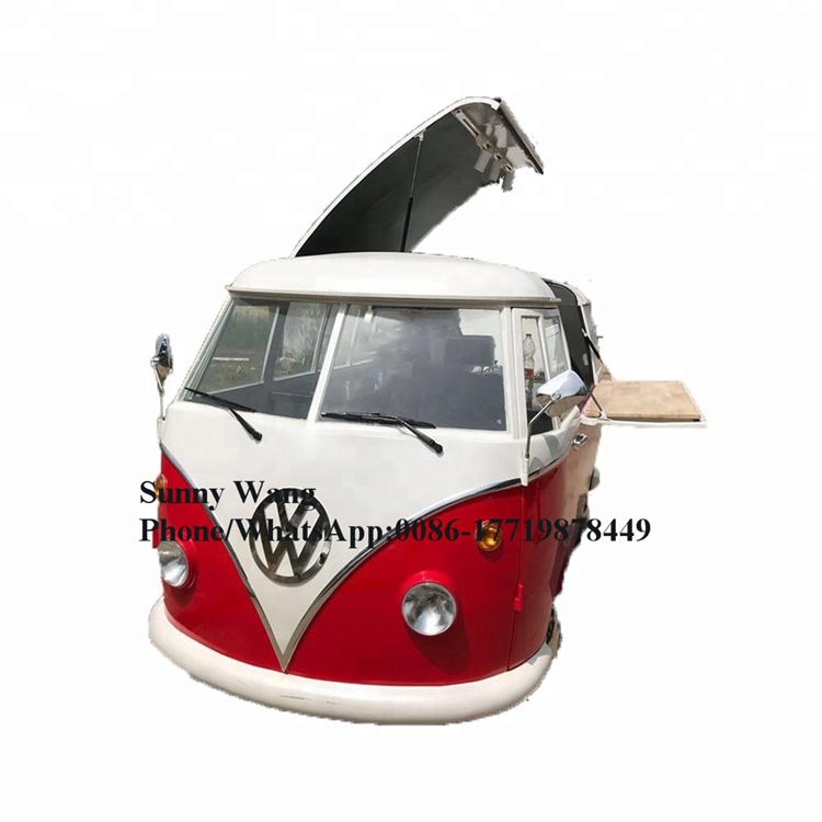 4 Wheels 432 Long Coffee Color Street Food Truck Mobile Trailer Ice Cream Vending Cart For Sale