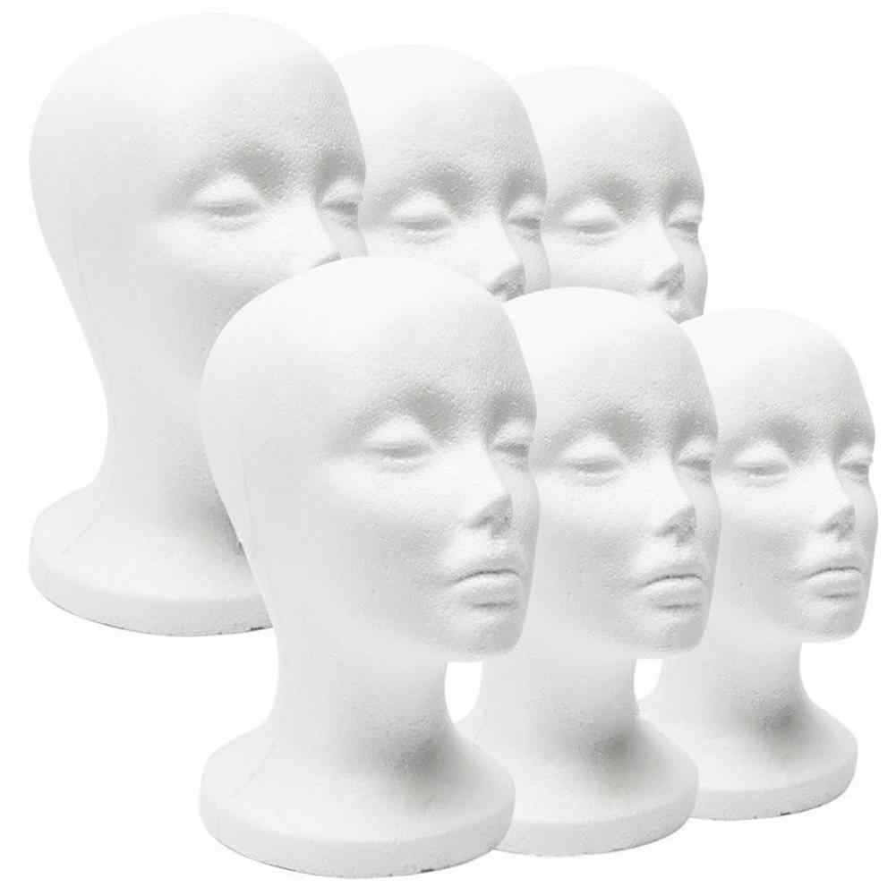1 Pc Vrouwelijke Styrofoam Foam Mannequin Mannequin Hoofd Model Hoed Glazen Display Foam Mannequin Hoofd Model Hoed Pruik Display Stand rack