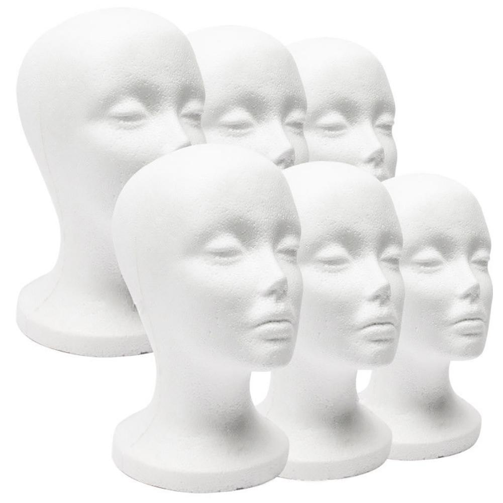 1 предмет женский пенопластовый Манекен Модель Манекен-голова для демонстрации очков и головных уборов Дисплей голова манекена из пеномате...