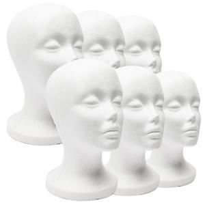 1 PC Female Styrofoam Foam Mannequin Manikin Head Model Hat Glasses Display Foam Mannequin Head Model Hat Wig Display Stand Rack