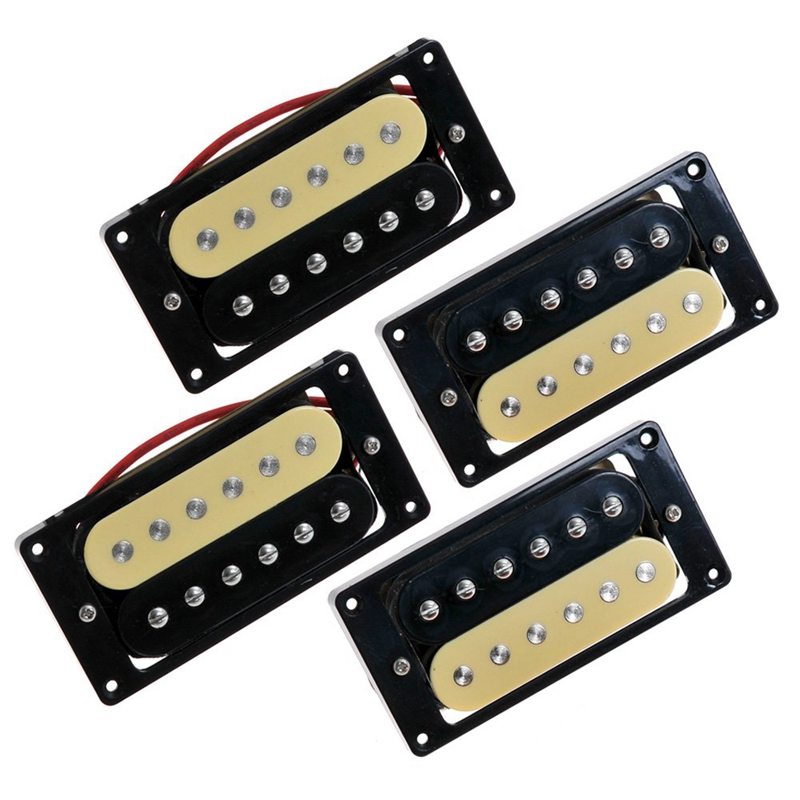 4 Electric Guitar Pickups 50/52 Zebra Faced Humbucker Double Coil Pickup