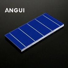 Panel Solar fotovoltaico de 100 Uds., Kit de bricolaje de 100W, 39 52 78 125X125MM, flujo de bolígrafo de soldadura, cable de Bus, monocristalino