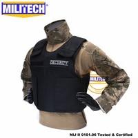 Militech preto nij ii lvl 2 colete de segurança twaron aramid à prova de balas overt balístico colete à prova de bala colete armadura Roupas de segurança     -