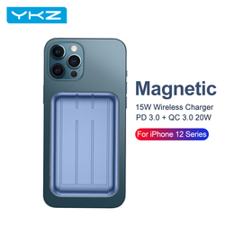 YKZ Magnetic Wireless Charger Power Bank For iPhone12 Pro Max Mini 15W PD QC 3.0 Magnet Fast Charging Powerbank External Battery