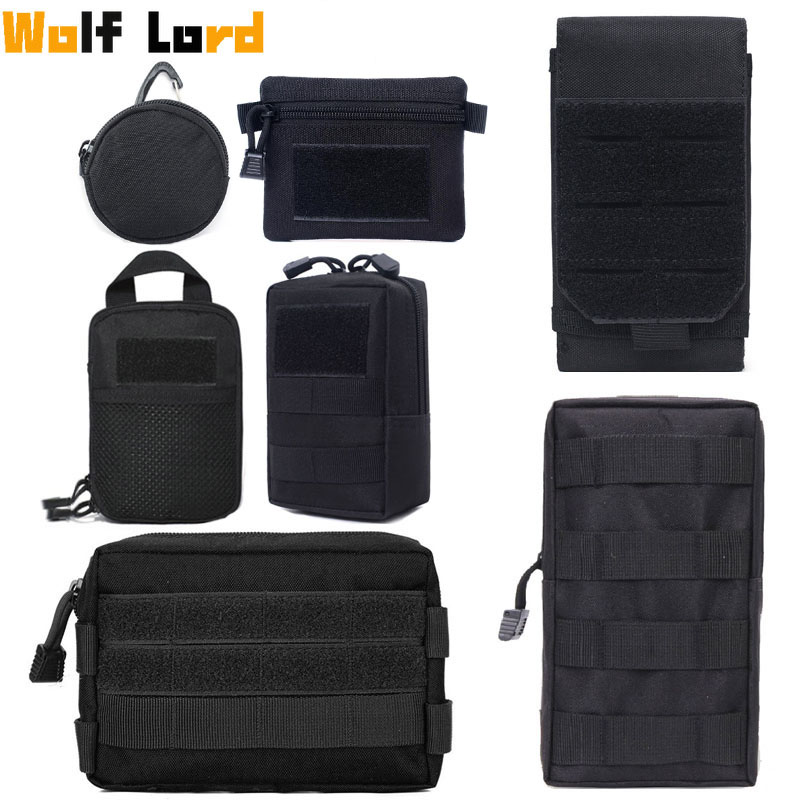 Military Tactical Bag Waist EDC Pack Molle Tools Holder Medical Bags Hunting Accessories Belt Pouch Outdoor Vest Pocket Wallet