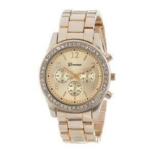 Image 4 - Yeni cenevre klasik lüks rhinestone İzle kadınlar saatler moda bayanlar kadınlar saat Reloj Mujer Relogio Feminino bayanlar izle