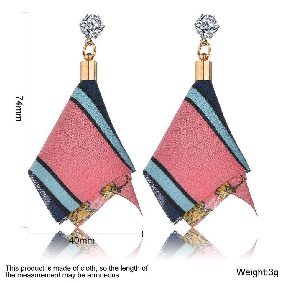 H8748d54c4d89452d8b01e25c076766abE - Bohemian Heart Tassel Long Drop Earrings BOHO Pink Blue Silk Fabric Design Dangle Earrings For Women Jewelry Gift Christmas