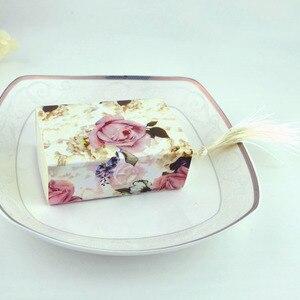 Image 4 - Коробка для конфет, ящик для формирования предметов, женская коробка для цветов, Подарочная коробка для свадебных сувениров, шоколадная сумка, романтичная Свадебная коробка, 50 шт.