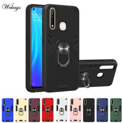 На Алиэкспресс купить чехол для смартфона shockproof armor kickstand phone case for vivo y17 y15 y12 y11 y3 u10 u1 z5x z1 pro x21 y53 v17 y9s finger magnetic ring cover