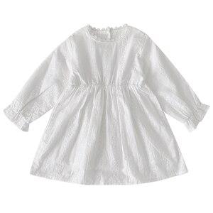 Image 5 - Para meninas vestidos de manga longa das crianças para meninas princesa vestidos de outono crianças designer vestidos de festa para o bebê meninas vestido branco