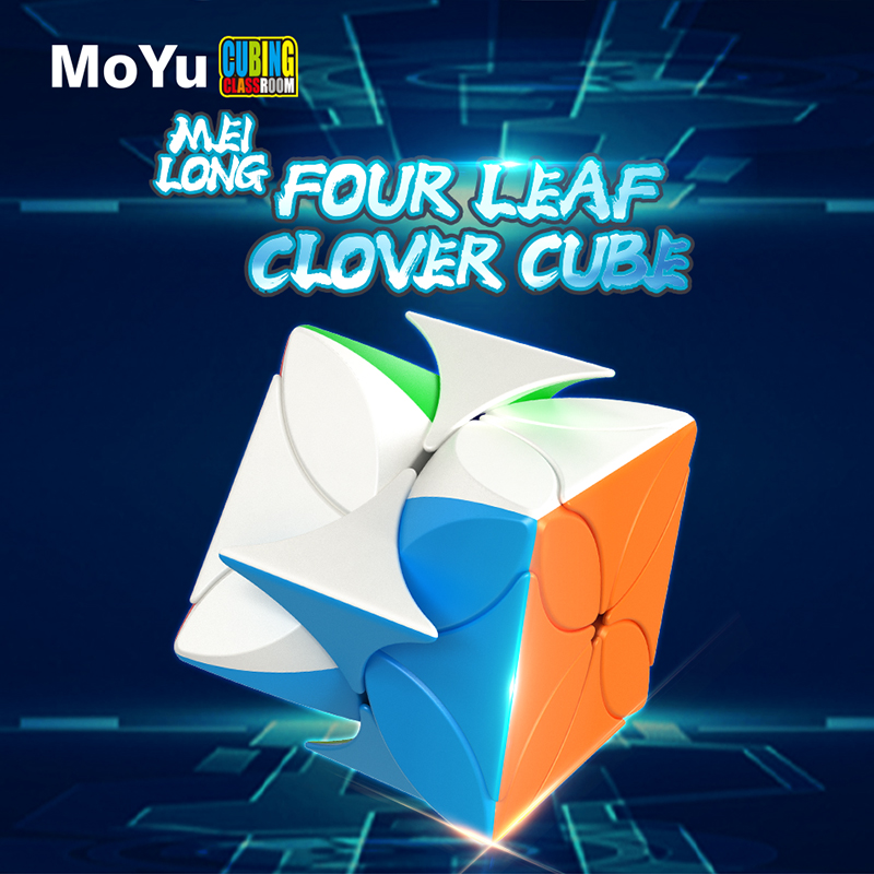 MoYu Meilong Four Leaf Clover Magic Cube Stickerless Cube Puzzle Irregularly Speed Cubes Educational Toys For Students