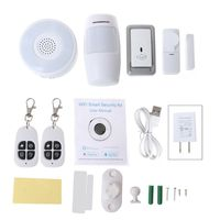 1Set Smart Home WiFi Security Alarm Kit Gateway Hub Door Window Sensor PIR Detector Automation Home Security System