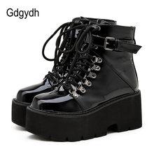 Gdgydh/женские ботинки на платформе с украшением в виде пряжки;