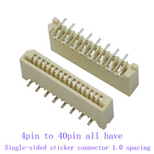 400Pcs FPC FFC 1mm  Vertical Kits each size 20pcs 4 5 6 7 8 11 12 to 40 Pin Dual Contacts Straight DIP Ribbon Flat Connector 20pcs lnk305pn lnk305 dip 7