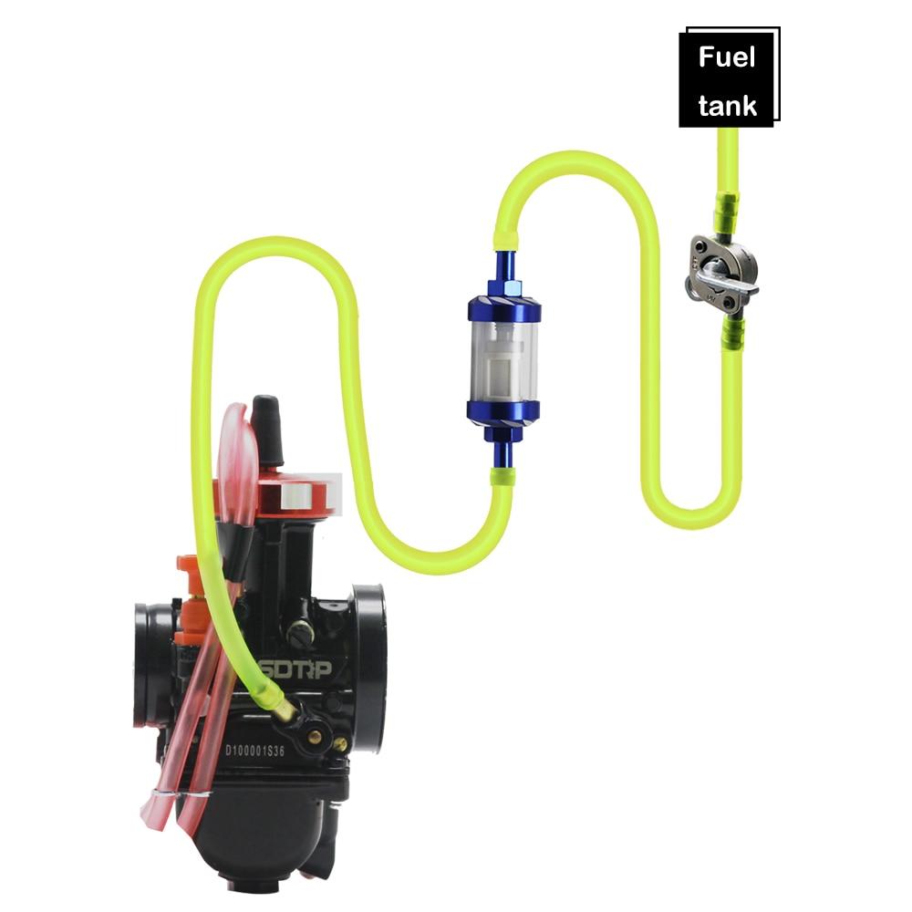 "Alloy /& Glass Washable Fuel Petrol Diesel Inline Filter 8mm 5//16/"" trials bike"