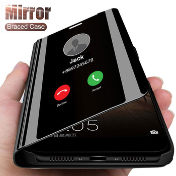 Inteligentne lustro etui na telefon do Xiaomi Redmi Note 9 9 S 8 7 K20 5 6 Pro 4X 8T 8 8A 7 7A 5 Plus Mi 10 uwaga 10 9 SE A1 A2 5X 6X pokrywa tanie i dobre opinie LUXMEVE Etui z klapką Smart Mirror Stand Phone Case For Xiaomi 4X Redmi Nocie Redmi Note 4 Redmi 5A Redmi 5 Plus MI 8 SE