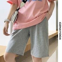 Genayooa Elastic Waist Shorts Women 2021 Summer Casual Ladies Shorts High Waist Fitness Clothing Korean Style Short Feminino