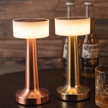 Thrisdar akumulator grzyb KTV stolik barowy lampa kreatywna bezprzewodowa restauracja kawiarnia nocna stół do jadalni lampka nocna tanie tanio ROHS CN (pochodzenie) Łóżko pokój Srebrny W górę iw dół TD-MoGuBai-GuT-WW Brak iron Ue wtyczka 12 v Dotykowy włącznik wyłącznik