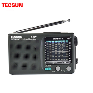 Image 1 - TECSUN R 909 Fm/Mw/Sw 9เครื่องรับสัญญาณวิทยุแบบพกพาวิทยุFmเสาอากาศวิทยุ