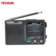 TECSUN R 909 fm/mw/sw 9 bantları dünya bandı alıcı radyo ultra ince taşınabilir radyo fm anteni radyo