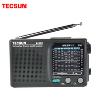 Tecsun R 909 fm/mw/sw 9バンドワールドバンドレシーバーラジオ超薄型ポータブルラジオfmアンテナラジオ