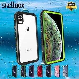 Image 1 - IP68 su geçirmez telefon kılıfı için Apple iPhone 11 X XR XS Max sualtı temizle kılıf kapak iPhone 6 7 8 artı su geçirmez kılıf