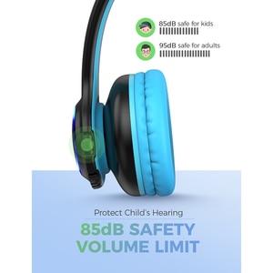 Image 2 - Mpow CH9 بلوتوث الاطفال سماعات طوي سماعة مع ميكروفون مصباح ليد 85dB حجم الحد للأطفال بنين بنات المراهقين
