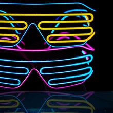 LED Luminous Glasses Halloween Glowing Neon Christmas Party Flashing Light Glow Sunglasses Glass Festival Supplies Costumes(China)