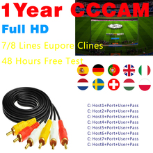 7 Lines 1 Year Europe Cccam Cline Stable Cccams for Europe S