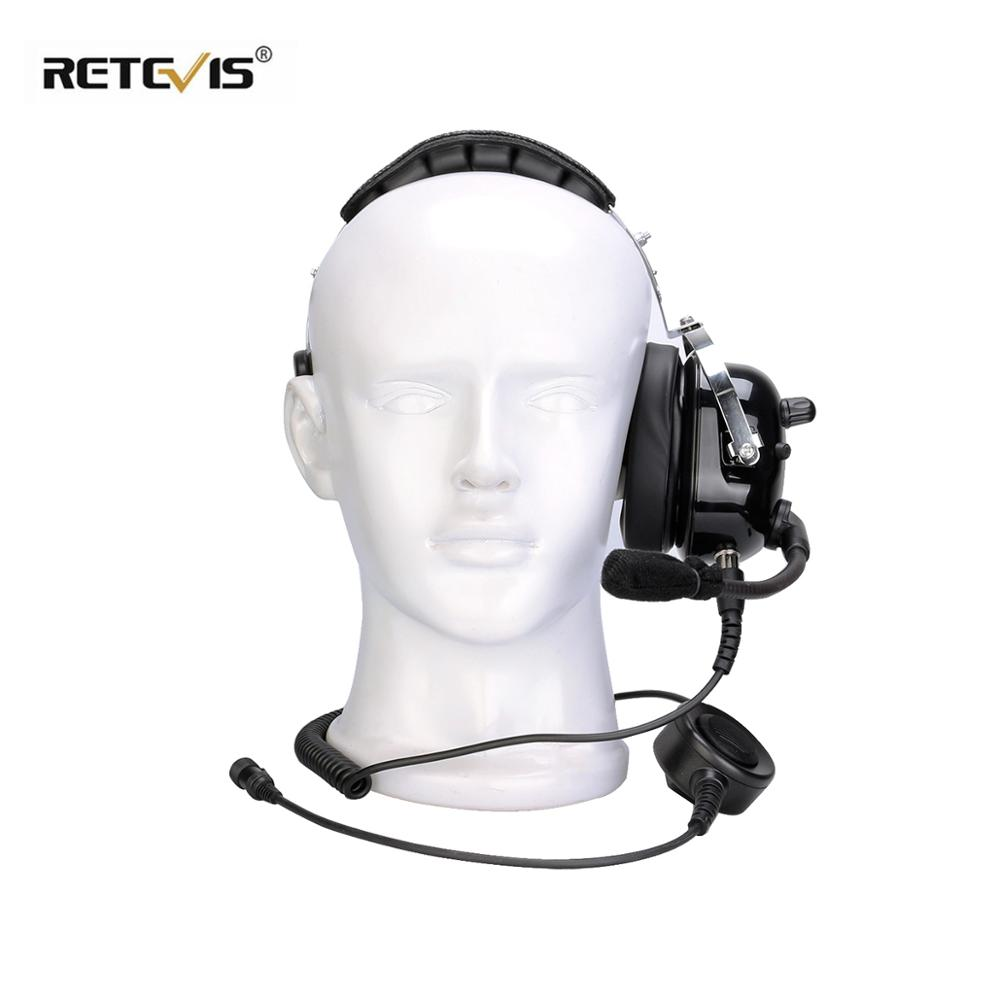 New Black EHK005 2 Pin Noise Cancelling Walkie Talkie Single Headset With Microphone For Kenwood Two Way Radio C9126A