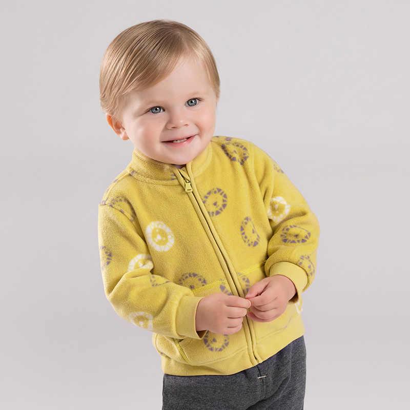 DB396-H-G Dave Bella thu unisex bé đáng yêu áo khoác trẻ em thời trang áo khoác trẻ em dễ thương Áo khoác