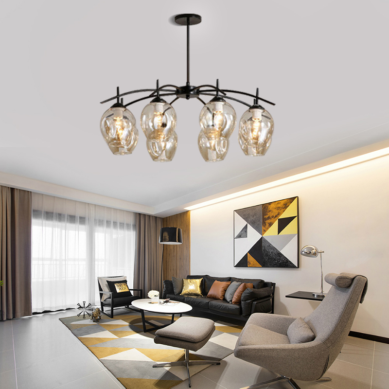 Modern Chandelier for Living Room Bedroom Home Decoration Indoor Lighting Hanging Lamps Design Art Creative Glass Ball Pendant