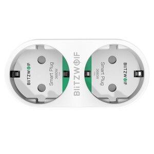 Image 5 - BlitzWolf BW SHP7 3680W 16A הכפול Outlet האיחוד האירופי Plug החכם WIFI שקע APP שלט לעבוד עם גוגל עוזר/אמזון Alexa