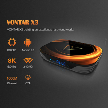 VONTAR X3 8K 4GB 128GB TV Box Android 9.0 Amlogic S905X3 TVBox 32GB 64GB 1000M Dual Wifi 4K 60fps Netflix Youtube Media Player 1