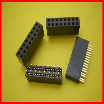 2*8 female row 2.54MM spacing double-row female row seat header pin seat image